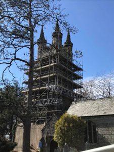 Devon church scaffolding