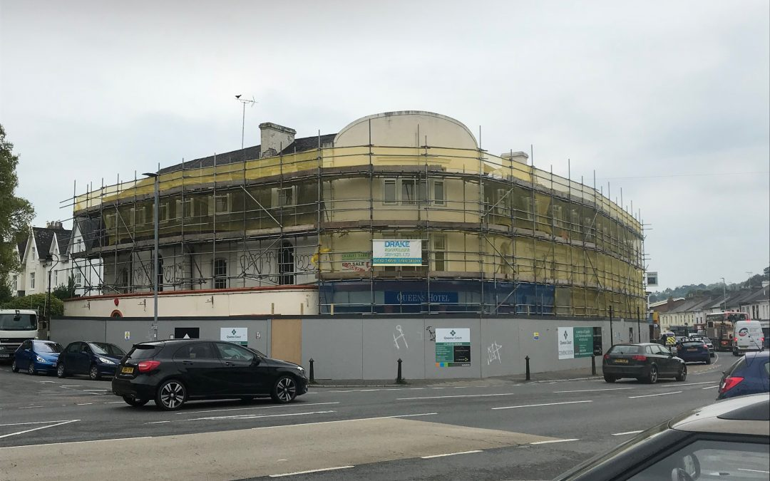 The Queens Hotel Scaffolding Project in Newton Abbot