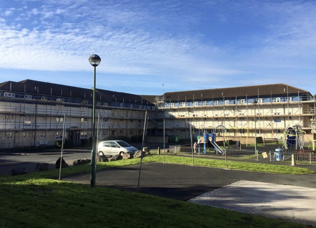 The Team Completes Another Plymouth Contract Scaffolding Project