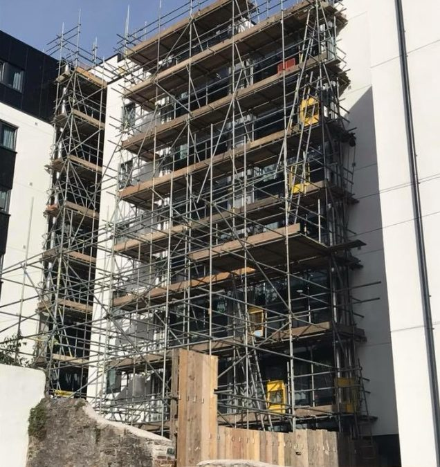 Scaffolding for a recent Plymouth cladding project