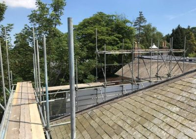 Scaffolding for listed buildings