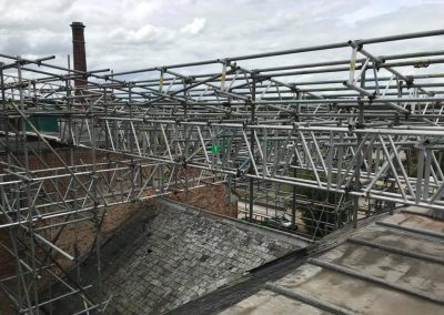 listed building scaffolding