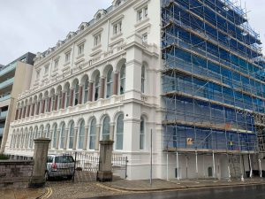 scaffolding Plymouth hotel