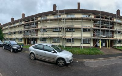 Scaffolding to a Block of Flats in Exeter
