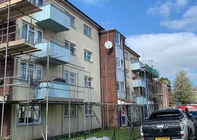 Scaffolding for decorating