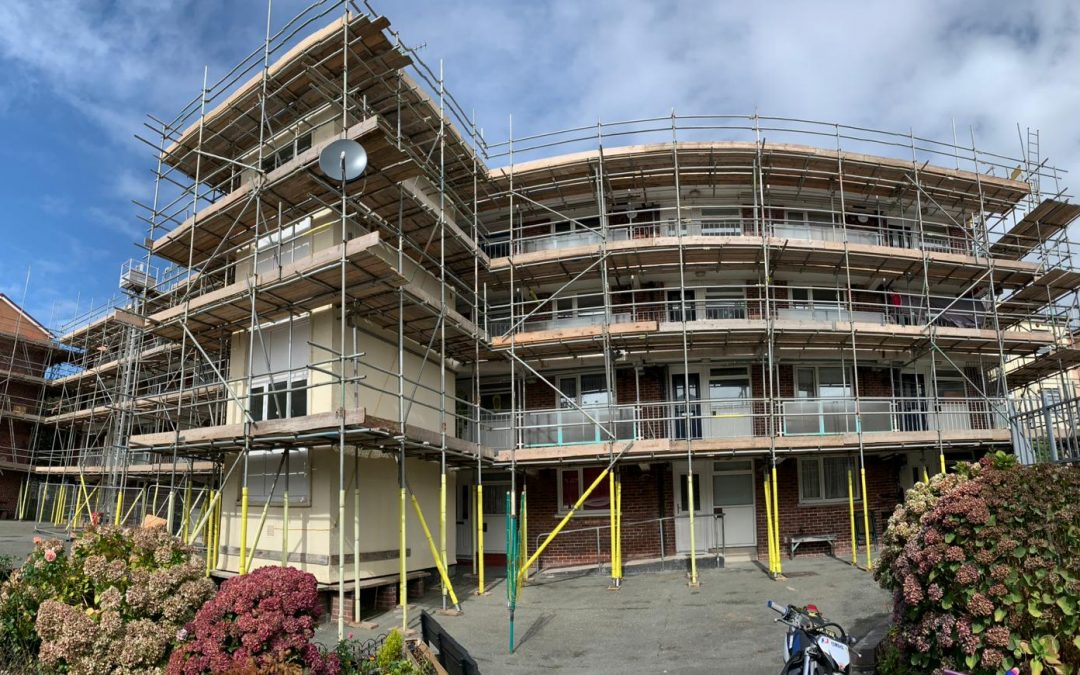 Drake Team Undertake Large Housing Association Scaffolding Project