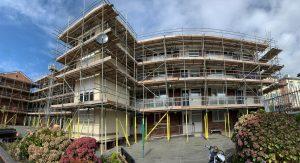 Housing association scaffolding