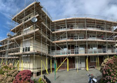 Plymouth Housing Association scaffolding project