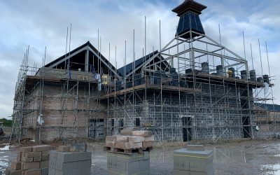 Scaffolding for New Whisky Distillery in Princetown