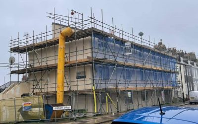 Another Local Plymouth Scaffolding Job for Drake